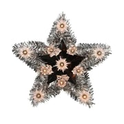 "Sienna 9"" Lighted Silver Tinsel Star Christmas Tree Topper -Clear Lights (31739670)"
