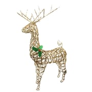 Northlight 57 inch Lighted Standing Grapevine Reindeer Christmas Yard Art...