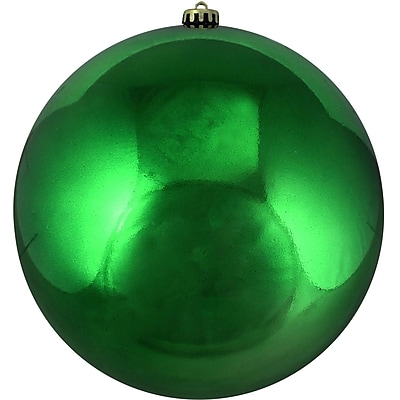 Northlight Shiny Xmas Green Commercial Shatterproof Christmas Ball Ornament 10