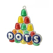 """Northlight 3"""" Silver Plated Dots Candy Logo Multi- Colored Christmas Tree Ornament with European Crystals (31740019)"""