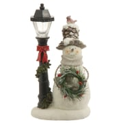 "Raz 11"" Lighted Snowman Lamp Post Decorative Table Top Christmas Decoration (31743602)"