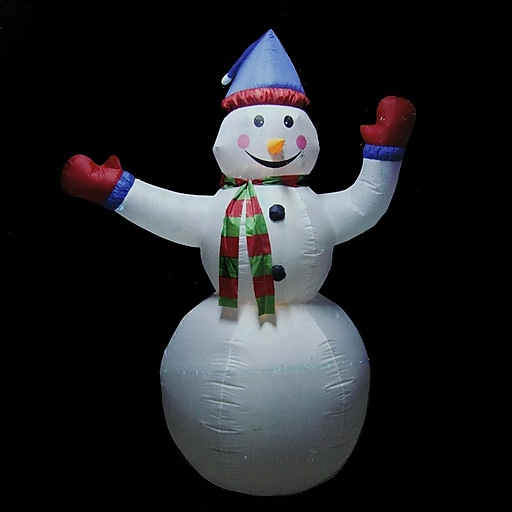 LB International 8' Animated Inflatable Lighted Standing Snowman Christmas Yard Art Decoration (31729906)