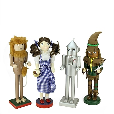 Northlight Set of 4 Decorative Wizard of Oz Wooden Christmas Nutcrackers (31758325)