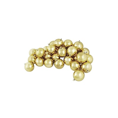Northlight 60ct Shiny Champagne Gold Shatterproof Christmas Ball Ornaments 2.5
