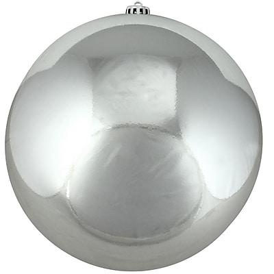 Northlight Shiny Silver Splendor Commercial Shatterproof Christmas Ball Ornament 10