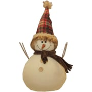 "Northlight 10.75"" Snowman with Red and Black Plaid Hat Christmas Tabletop Decoration (32263212)"