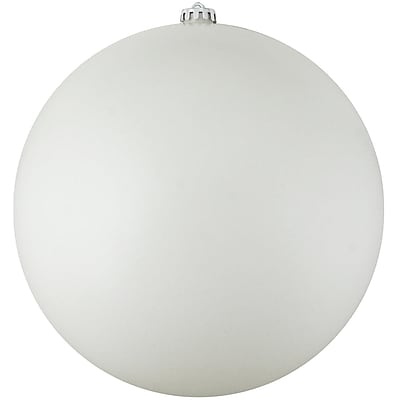 Northlight Shatterproof Matte Winter White Commercial Christmas Ball Ornament 10