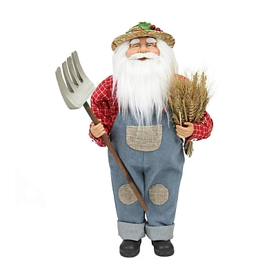 "Northlight 18"" Country Heritage Santa Claus Holding a Sheaf of Wheat Christmas Decoration (31734604)"
