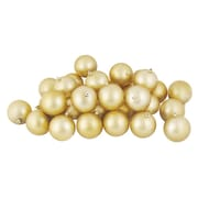 """Northlight 12ct Shatterproof Matte Champagne Gold Christmas Ball Ornaments 4"""" (100mm) (31754406)"""