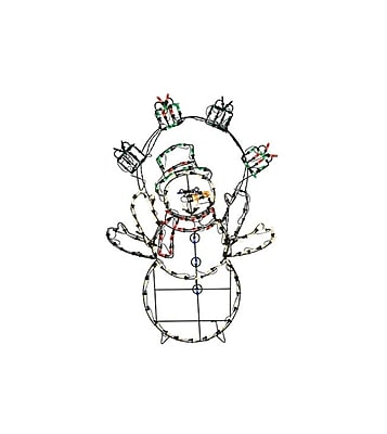"""""Product Works 42"""""""" Pre-Lit Multi-Color LED Animation Snowman with Gifts Christmas Yard Art Decoration (32275537)"""""" 24180737"