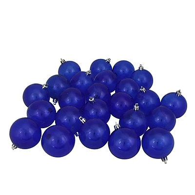 Northlight 32ct Blue Transparent Shatterproof Christmas Ball Ornaments 3.25