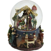 "Northlight 5"" Nativity Scene Religious Inspirational Musical Christmas Snow Globe Glitterdome (32259959)"