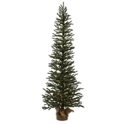 "Vickerman 3' x 11"" Pre-Lit Mini Pine Artificial Christmas Tree in Burlap Base - Clear Dura Lights (32270095)"