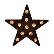 "Sienna 9"" Lighted Brown 5-Point Metal Star Decorative Christmas Tree Topper - Clear Lights (31740365)"