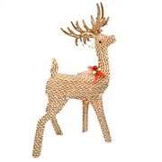 Northlight 48.5 inch Pre Lit Brown and White Striped Chenille Reindeer Yard Art...