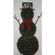 GKI/Bethlehem Lighting 6.5' Giant Commercial Grade LED Lighted Snowman Topiary Yard Art Christmas Decoration (31729516)