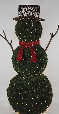GKI/Bethlehem Lighting 6.5' Giant Commercial Grade LED Lighted Snowman Topiary Yard Art Christmas Decoration (31729516)