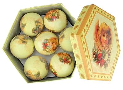 Northlight 14-Piece Cherubs and Angels Decoupage Shatterproof Christmas Tree Ball Ornament Set 2.75