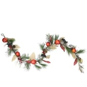 "Northlight 6' x 10"" Autumn Harvest Mixed Pine Berry and Nut Thanksgiving Fall Garland - Unlit (31736614)"