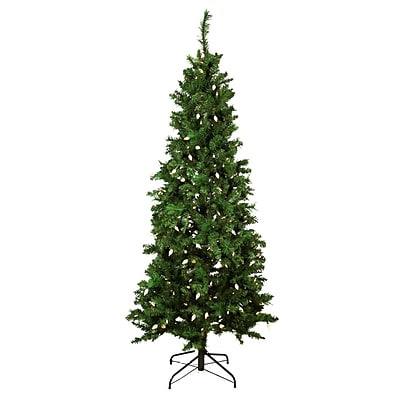 Northlight 7' Pre-Lit Single Plug Slim Mixed Long Needle Pine Artificial Christmas Tree- Multi-Function LED Lights (31752241)