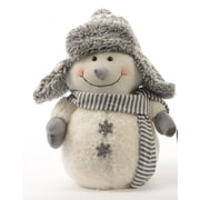 "Kaemingk 12"" Winter Light Snowman with Gray Bombardier Hat and Snowflake Buttons Christmas Decoration (31748427)"