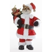 "Roman 10"" Multi-Colored Santa Fox with Satchel Decorative Christmas Table Top Decoration (31752642)"