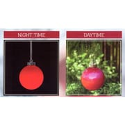 Northlight Set of 3 LED Lighted Red Battery Operated Shatterproof Christmas Ball Ornament Lights (32263250)