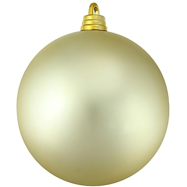 Northlight Shatterproof Matte Champagne Commercial Christmas Ball Ornament 12
