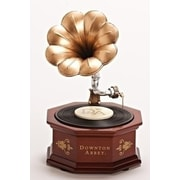 "Roman 8.75"" Downton Abbey Animated Musical Vintage Phonograph Table Top Decoration (31751868)"