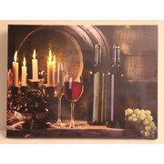 """Northlight LED Lighted Flickering Candles and Wine Canvas Wall Art 11.75"""" x 15.75"""" (32038672)"""
