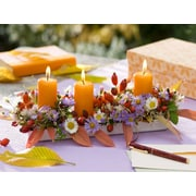 """Northlight LED Lighted Floral and Berries Candle Centerpiece Canvas Wall Art 11.75"""" x 15.75"""" (32039257)"""