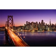 "Northlight LED Lighted Famous San Francisco Oakland Bay Bridge Canvas Wall Art 15.75"" x 23.5"" (32021531)"