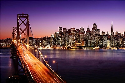 Northlight LED Lighted Famous San Francisco Oakland Bay Bridge Canvas Wall Art 15.75