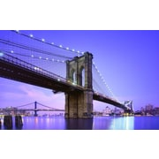 "Northlight LED Lighted Famous New York City Brooklyn Bridge Canvas Wall Art 15.75"" x 23.5"" (32021545)"