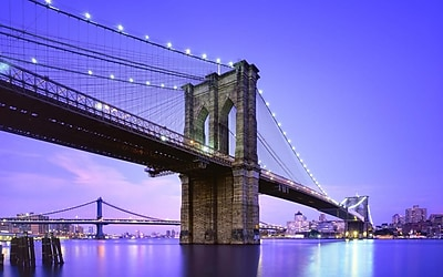 Northlight LED Lighted Famous New York City Brooklyn Bridge Canvas Wall Art 15.75