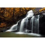 "Northlight Natures Woods Autumn Waterfall Scene Canvas Wall Art 15.75"" x 23.5"" (32019809)"