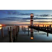 "Northlight LED Lighted Coastal Sunset Lighthouse Scene Canvas Wall Art 15.75"" x 23.5"" (32021253)"