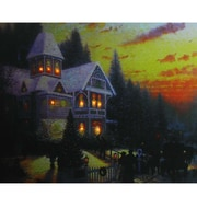 "Northlight LED Lighted Victorian Christmas at Sunset Canvas Wall Art 15.75"" x 19.5"" (32256106)"