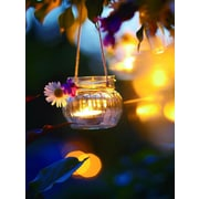 "Northlight LED Lighted Tealight Candle with Daisy Scene Canvas Wall Art 15.75"" x 11.75"" (32039542)"