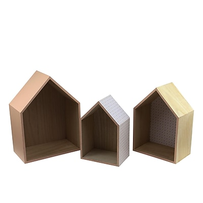Kaemingk Set of 3 Basic Luxury Shadow Boxes with Peach Accents 11.5 - 15.5