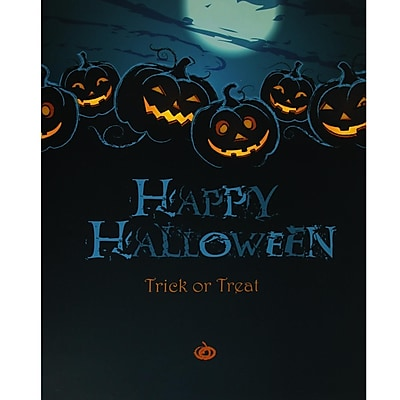 Northlight LED Lighted Jack-O'-Lanterns Happy Halloween and Trick or Treat Canvas Wall Art 19.75