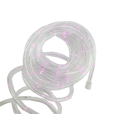 Northlight 12' Solar Powered Multi-Function Pink LED Indoor/Outdoor Christmas Rope Lights with Ground Stake (32228258)