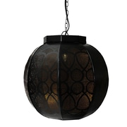 "Northlight 14"" Black and Gold Moroccan Style Cut-Out Hanging Lantern Pendant Ceiling Light Fixture (31580425)"