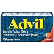 Advil Ibuprofen Pain Reliever/Fever Reducer, 200mg, 100/Box (015040)