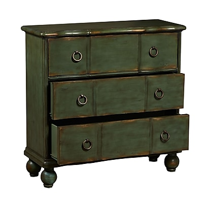 Right2Home Green Distressed Drawer Chest 30
