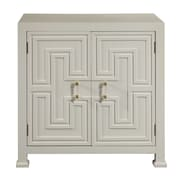 "Right2Home White Geometric Overlay Door Chest 32""L x 18""W x 33""H (DS-D047004)"