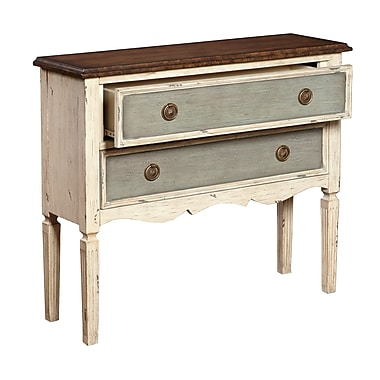 Right2Home Three Tone Distressed Hall Drawer Chest 30