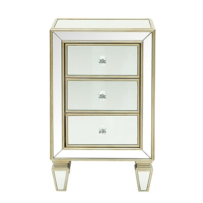 Right2Home Glam Mirrored Accent Drawer Chest 18.13