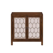 "Right2Home Bevel Overlay Door Chest Brown 28""L x 12.6""W x 27.8""H (DS-2495-850-1)"