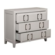 "Right2Home White Drawer Cabinet with Buckle Hardware 38""L x 16""W x 31.75""H (DS-A092003)"